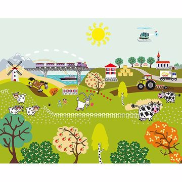 Picture of Farm Life Wall Mural
