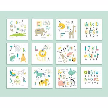 Picture of Animal Alphabet Wall Mural