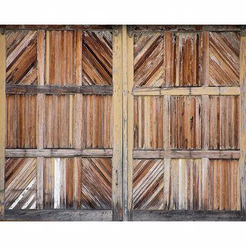 Picture of Wooden Doors Wall Mural