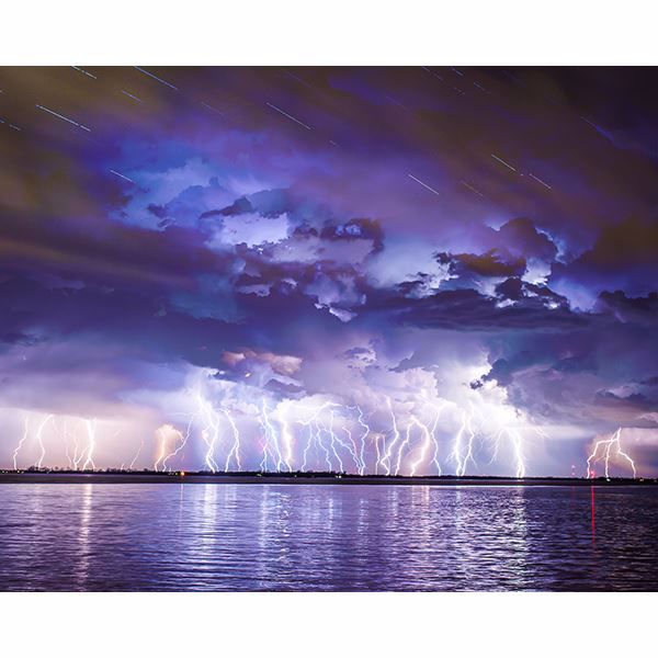 Picture of Lightning Strikes Wall Mural