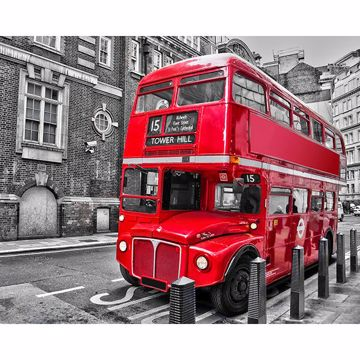 Picture of London Bus Wall Mural