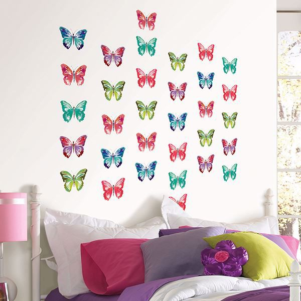 Picture of Watercolor Butterflies  Wall Art Kit