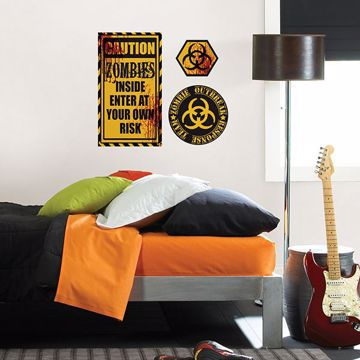 Picture of Caution Zombies Wall Quote Decals