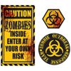 Caution Zombies Wall Quote