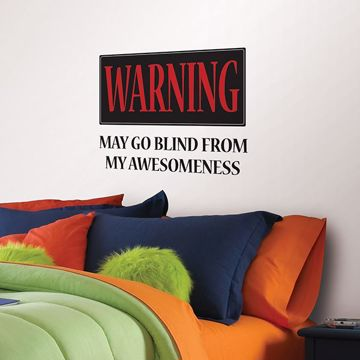 Picture of Warning: May Go Blind Wall Quote Decals