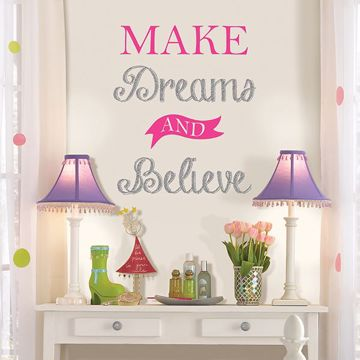 Picture of Make Dreams and Believe Wall Quote Decals