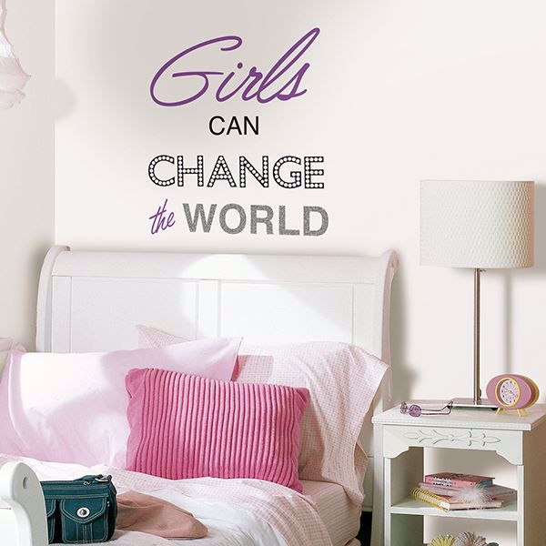 Picture of Girls Can Change The World Wall Quote Decals
