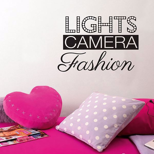 Picture of Lights Camera Fashion Wall Quote Decals