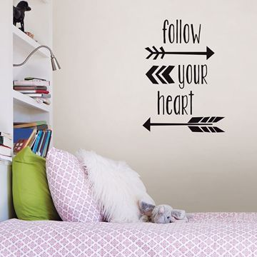 Picture of Follow Your Heart Wall Quote Decals