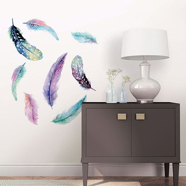 Picture of Celestial Feathers  Wall Art Kit