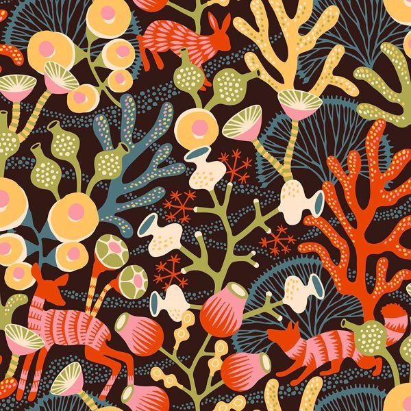Picture of Korall Orange Meadow Wallpaper