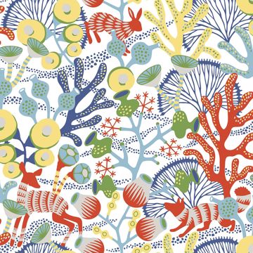 Picture of Korall Multicolor Meadow Wallpaper