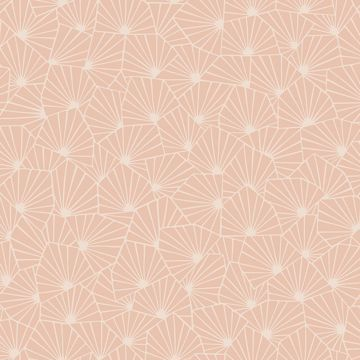 Picture of Blomma Apricot Geometric Wallpaper