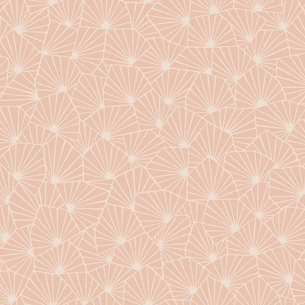 Blomma Apricot Geometric Wallpaper