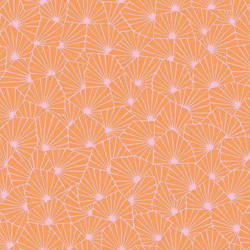 0022004 blomma orange geometric wallpaper 360