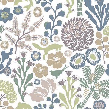 Picture of Flytta Green Fauna Wallpaper