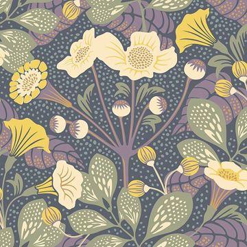 Picture of Tropisk Multicolor Floral Wallpaper