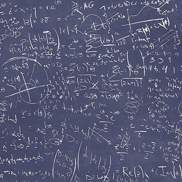 Picture of Chalkboard Navy Equation Wallpaper