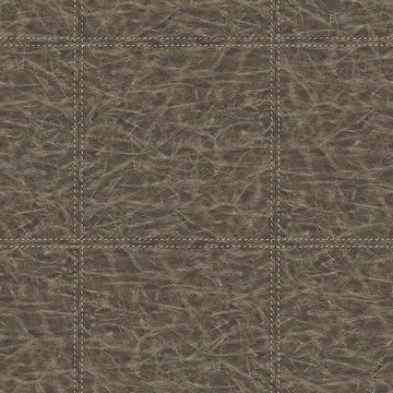 Picture of Study Check Brown Leather Wallpaper