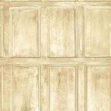 Picture of Common Room Beige Wainscoting Wallpaper