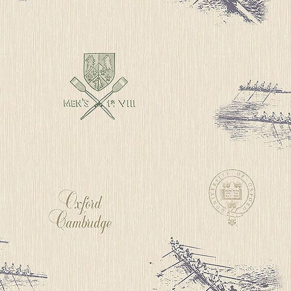 Picture of Varsity Blue Row Boat Wallpaper