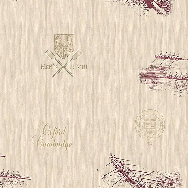 Picture of Varsity Maroon Row Boat Wallpaper