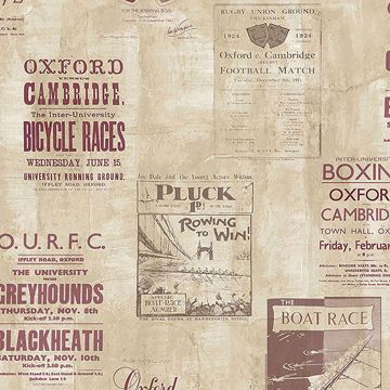 Picture of Iffley Maroon Programme Wallpaper