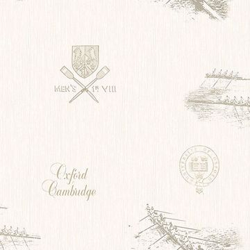 Picture of Varsity Grey Row Boat Wallpaper