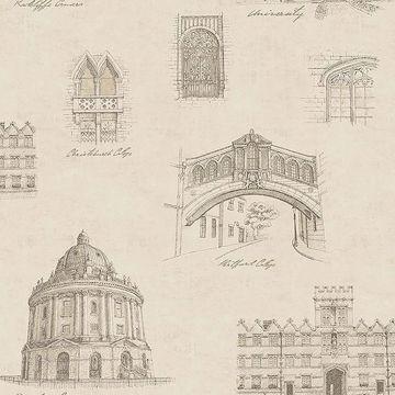 Picture of Estate Gold Illustration Wallpaper