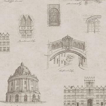 Picture of Estate Grey Illustration Wallpaper