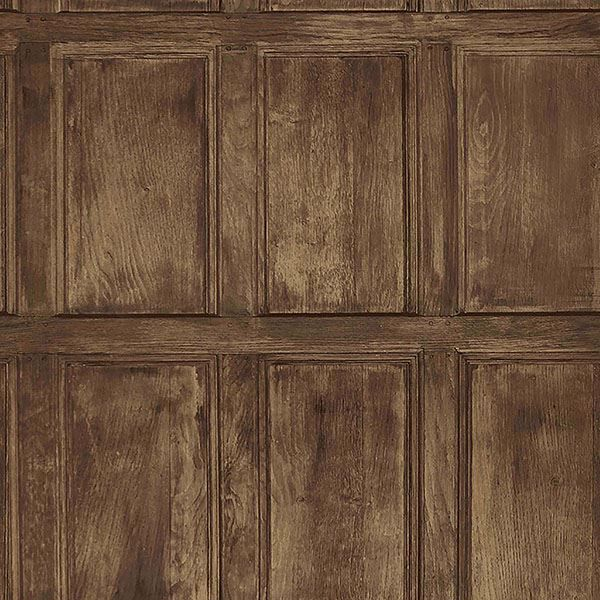 Picture of Common Room Brown Wainscoting Wallpaper