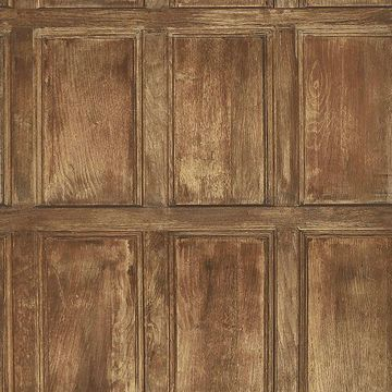 Picture of Common Room Chestnut Wainscoting Wallpaper