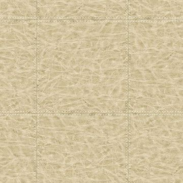 Picture of Study Check Beige Leather Wallpaper
