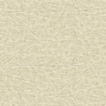 Picture of Study Check Taupe Leather Wallpaper