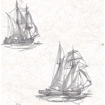 Picture of Hudson Bay Ivory Nautical