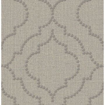Picture of Broadway Grey Quatrefoil