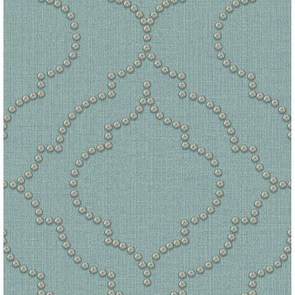 Picture of Broadway Turquoise Quatrefoil