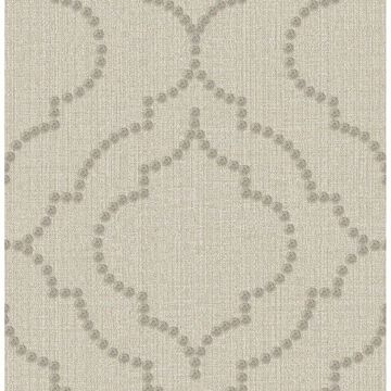 Picture of Broadway Taupe Quatrefoil