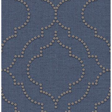 Picture of Broadway Blue Quatrefoil