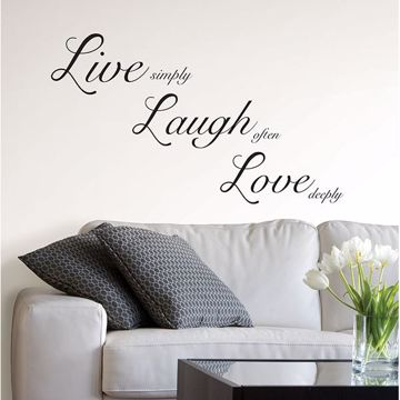 Picture of Live Laugh Love Wall Quote Decals