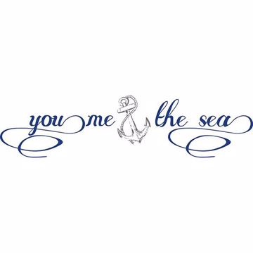 Picture of You, Me & the Sea Wall Quote Decals