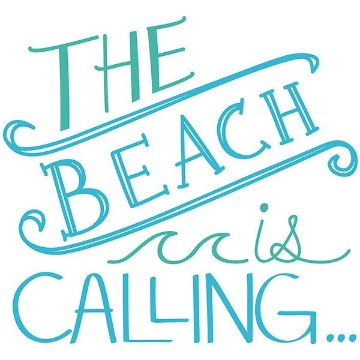 Picture of Beach is Calling Wall Quote Decals