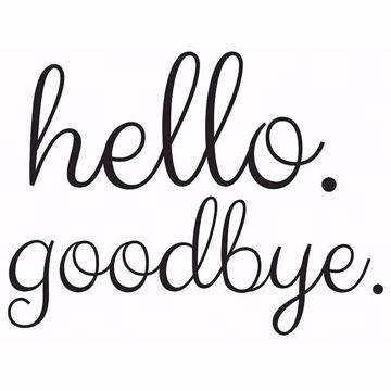 Picture of Hello Goodbye Door Decal
