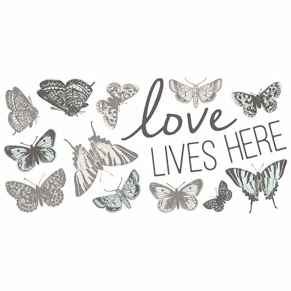 Picture of Love Lives Here Wall Stickers