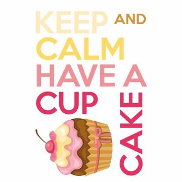 Picture of Keep Calm And Cupcake Wall Quote Decals
