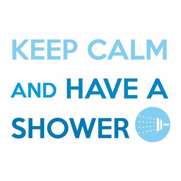 Picture of Keep Calm And Shower Wall Quote Decals