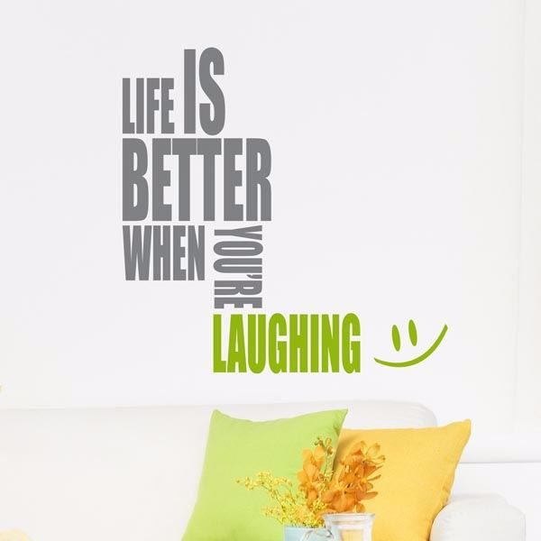 Picture of Laughing Wall Quote Decals