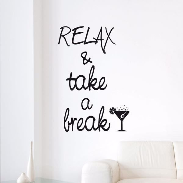 Picture of Take a Break Wall Quote Decals
