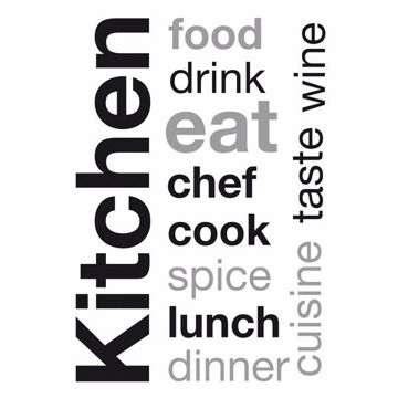Picture of Kitchen Wall Sayings Wall Quote Decals