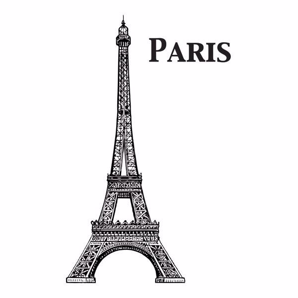Picture of Eiffel Tower Wall Decals